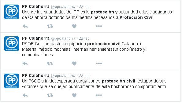 ppcalahorra proteccion civil febrero twitter